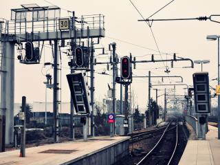 обои На железной дороге симафоры фото