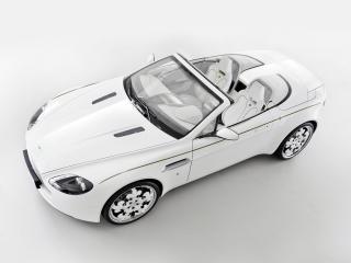 обои Graf Weckerle Aston Martin V8 Vantage Roadtser Blanc de Blancs 2010 сверху фото