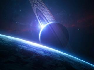 обои Космическое тело у земли фото