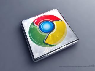 обои Chrome в кубике фото