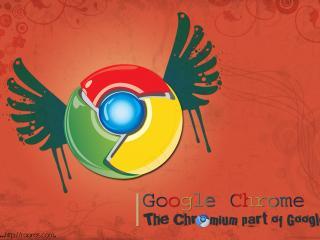 обои Chrome крылья фото
