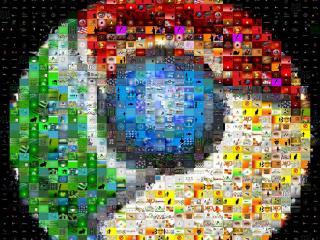 обои Chrome кубики фото