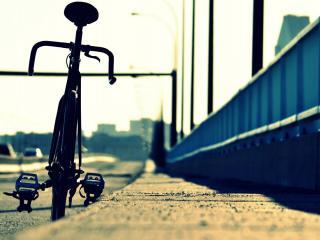 обои Велосипед на обочине фото