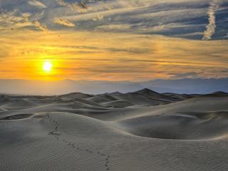 обои Песчаные дюны на солнечном закате фото