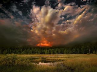 обои Небо навевающее страх,   перед стихией фото