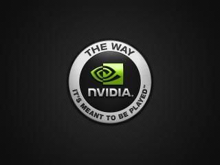 обои Логотип нвидиа на матовом фоне фото