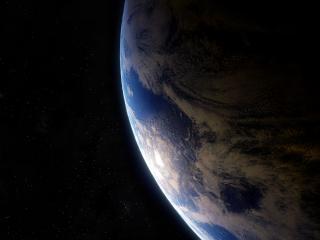 обои Земля в космическом пространстве фото