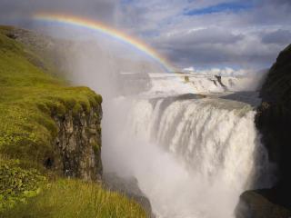 обои Радуга у водопада фото