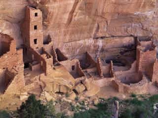 обои Древнее поселение в горах фото