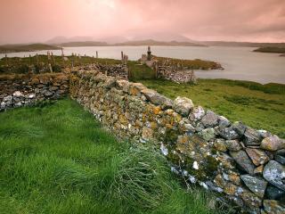 обои Старая изгородь из камня фото