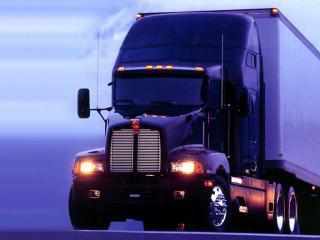 обои Большой синий грузовик фото