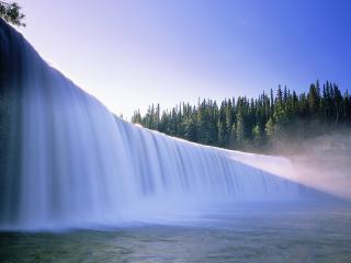 обои Широкий речной водопад фото