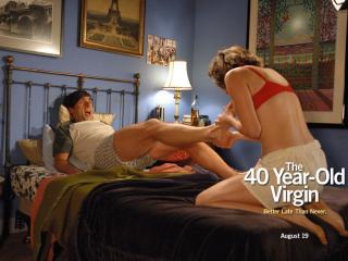 обои 40-летний девственник -мужчина и женщина фото