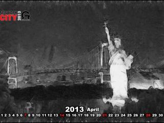 обои Календарь - 2013 Апрель фото