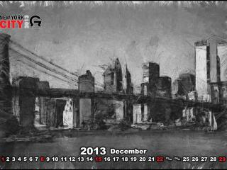 обои для рабочего стола: Календарь - 2013 Декабрь
