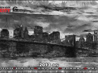 обои Календарь - 2013 Июль фото