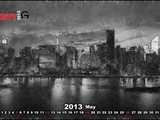 обои Календарь -  2013 Май фото