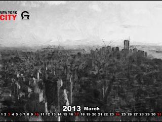 обои Календарь - 2013 Март фото