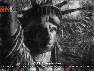 обои Календарь - 2013 Сентябрь фото