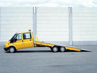 обои Ford Transit Double Cab Tow Truck 2000 бок фото