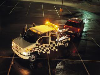 обои GMC TopKick Crew Cab Tow Truck 2004 перед фото