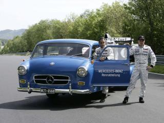 обои Mercedes-Benz Blue Wonder Transporter 1954 кабина фото