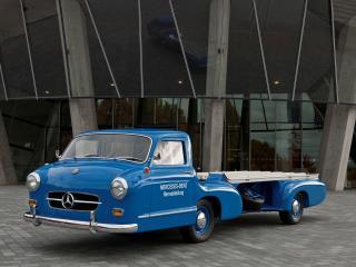 обои Mercedes-Benz Blue Wonder Transporter 1954 один фото