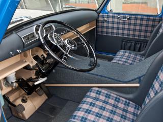 обои Mercedes-Benz Blue Wonder Transporter 1954 руль фото