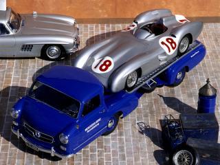 обои Mercedes-Benz Blue Wonder Transporter 1954 сверху фото
