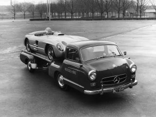 обои Mercedes-Benz Blue Wonder Transporter 1954 серое фото