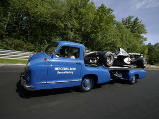 обои Mercedes-Benz Blue Wonder Transporter 1954 скорость фото