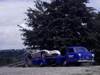 обои Mercedes-Benz Blue Wonder Transporter 1954 спуск фото