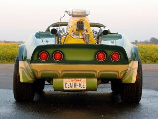 обои Corvette Custom Roadster the Alligator C3 1975 зад фото
