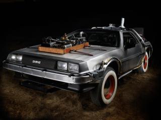 обои DeLorean DMC-12 Back to the Future 1985 перед фото