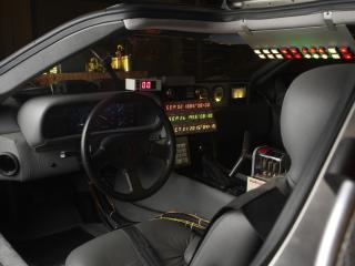 обои DeLorean DMC-12 Back to the Future 1985 руль фото