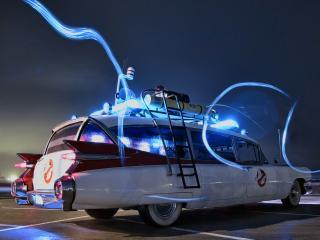 обои Cadillac Ambulance Ectomobile by Miller-Meteor 1984 бок фото