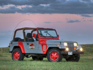 обои Jeep Wrangler Jurassic Park YJ 1993 бок фото