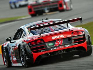 обои Audi R8 Grand-Am Daytona 24 Hours 2012 зад фото
