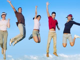 обои для рабочего стола: Люди парят с хорошим настроением