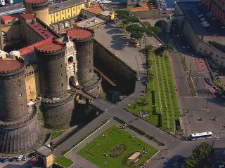 обои Вид старинного замка из птичьего полета фото