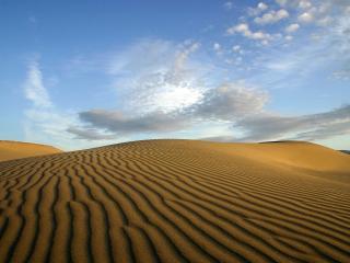 обои Рыфленная поверхность песчаных барханов фото