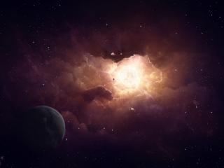 обои Космиеская дыра космоса и планеты фото