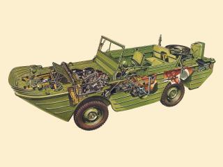обои Ford GPA 1942 эскиз фото