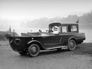 обои Peugeot Motorboat Car 1925 бок фото