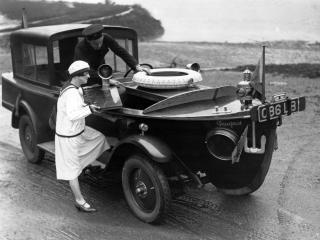 обои Peugeot Motorboat Car 1925 перед фото