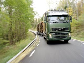 обои Volvo FH16 Timber Truck 2003 путь фото