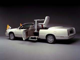 обои Cadillac DeVille Popemobile 1999 бок фото