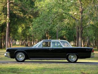 обои Lincoln Continental Bubbletop Kennedy Limousine 1962 бок фото