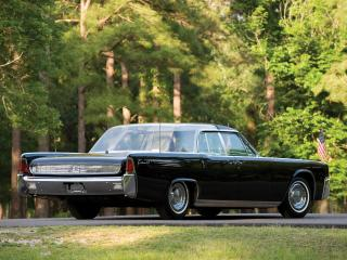 обои Lincoln Continental Bubbletop Kennedy Limousine 1962 зад фото