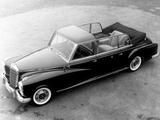 обои Mercedes-Benz 300d Pullman Landaulet Popemobile (W189) 1960 без крыши фото